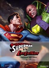 Художественная компьютерная печать Супермен против Лекса Лютора Sideshow Collectibles ДС комикс фотография-01.jpg