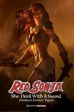 Коллекционная фигурка Красная Соня Ше-дьявол с мечом Sideshow Collectibles Red Sonja фотография-01.jpg